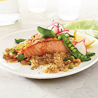 Roasted Salmon with Soy-Marmalade Glaze