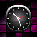 Purple Bold Analog Clock icon