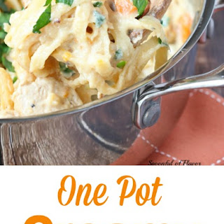 One Pot Creamy Chicken Pasta