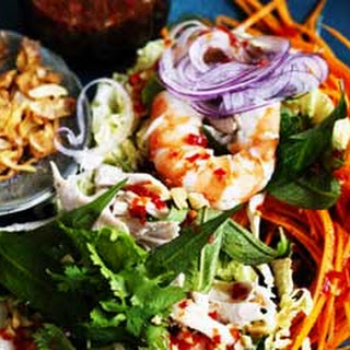 Vietnamese Chicken And Prawn Coleslaw
