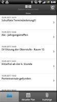 Screenshot of DSB mobile
