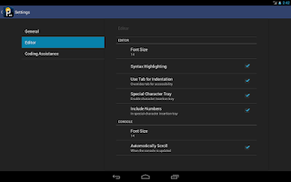 Screenshot of APDE - Android Processing IDE