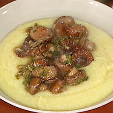 Sauteed Mushrooms over Polenta