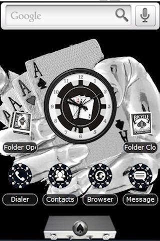 Poker Theme Black and White