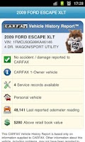 Screenshot of CARFAX Reports