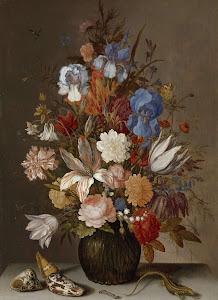 RIJKS: Balthasar van der Ast: Still Life with Flowers 1630