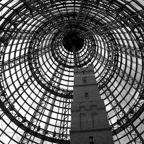 Shot Factory Dome by Ian McAdie - Black & White Buildings & Architecture ( , Architecture, Ceilings, Ceiling, Buildings, Building )