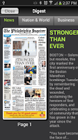 Screenshot of Philadelphia Inquirer Replica