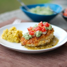 Tortilla Chicken with Salsa Verde