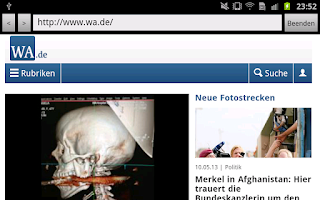 Screenshot of WA.de