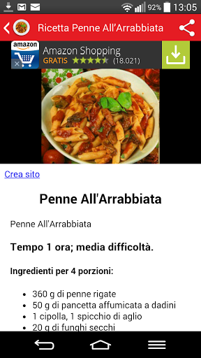 Ricette Italiane d  <div class=