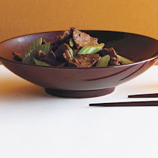 Cumin-Scented Stir-Fried Beef with Celery