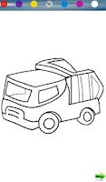 Screenshot of Coloring: Trucks