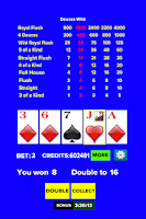 Screenshot of Video Poker - Jacks or Better
