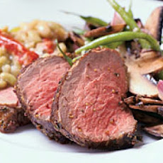 Flamed Roast Filet of Beef