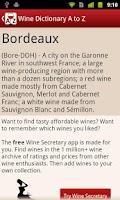 Screenshot of Wine Dictionary