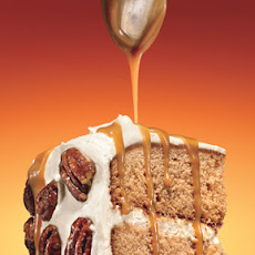 Maple-Gingerbread Layer Cake with Salted Maple-Caramel Sauce