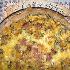 Cheesy Ham Quiche