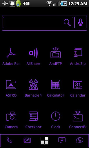 LightWorks Purple ADW Theme