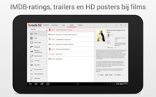 Screenshot of TVGiDS.tv Tablet