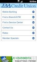 Screenshot of FAACU Mobile App 2.0
