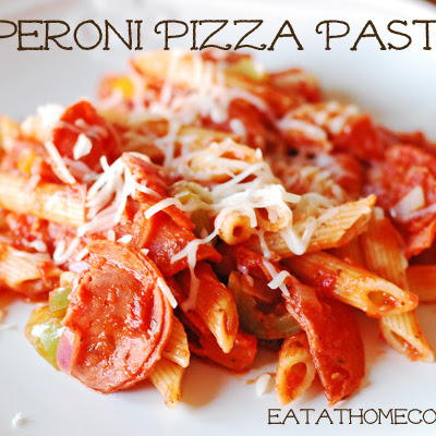 Pepperoni Pizza Pasta – 15 Minute Meal