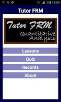 Screenshot of Tutor FRM 1 Quant Analysis