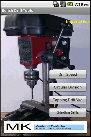 Drill Tool Imperial