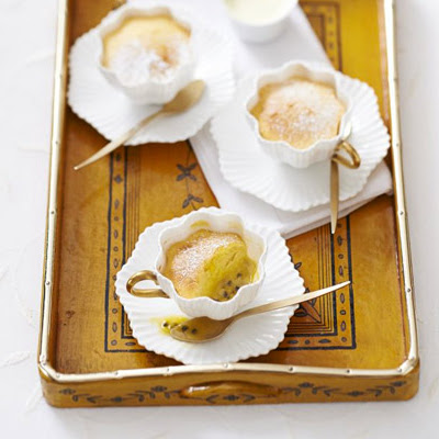 Passion Fruit Teacup Puddings