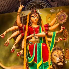 God Durga Durgoti Nashini by Rajib Chatterjee - Buildings & Architecture Statues & Monuments