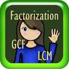 Factorization, GCF and LCM icon