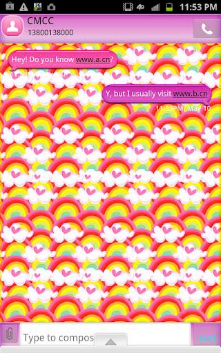 GO SMS - Rainbow Burst