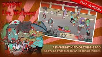 Screenshot of Zombie Live Wallpaper Free