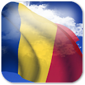 3D Romania Flag + icon