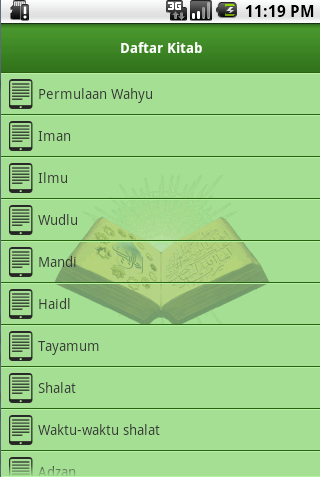 Screenshot #2 of Shahih Bukhari Indonesia / Android