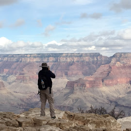 On The Edge by Daniel Gorman - Landscapes Travel ( erosion, colorado, canyon, rock, landscape, canyons, grand canyon, colorado river, rock formations, arizona, rock formation, landscapes, river )
