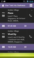 Screenshot of Showtimezz: SG Movie Timings