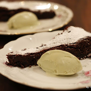 Flourless Chocolate Cake with Whisky Prunes