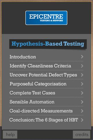 Hypothesis Based Testing