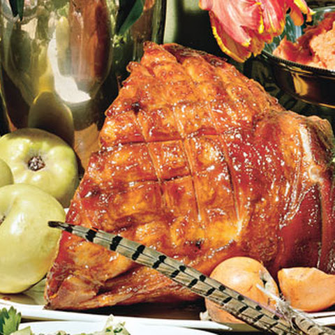 Old-Fashioned Ham with Brown Sugar and Mustard Glaze