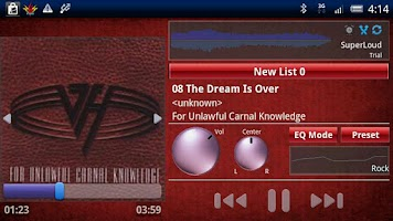 Screenshot of SuperLoud Trial, Audio Player