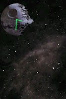 Screenshot of Death Star Clock