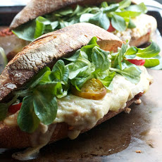 Italian-Style Tuna Melts with Sun-Dried Tomato Pesto, Arugula & Hot Peppers
