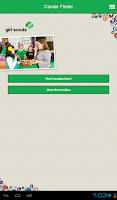Screenshot of Girl Scout Cookie Finder