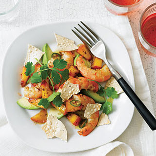 Curried Peach and Shrimp Salad