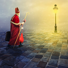 Magical wishes by Matej Skubic - Digital Art People ( hollidays, magic, magical wishes, st niclas, christmas, yellow ligts )