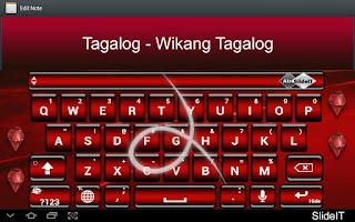 Screenshot of SlideIT Tagalog-Filipino pack