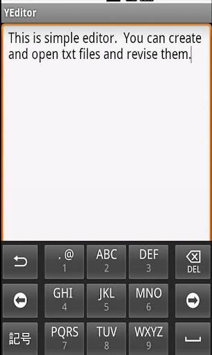 YEditor --simple editor--