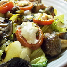 Grilled Veggie Salad with Goat Cheese and White Truffle Oil