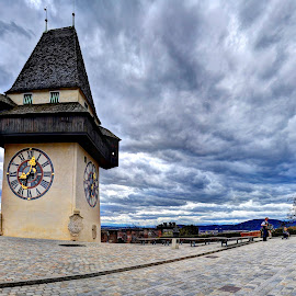Uhrturm, Graz by Catalin Tibuleac Fotografie - Buildings & Architecture Public & Historical ( tower, sky, historical buildings, clock, graz, austria )